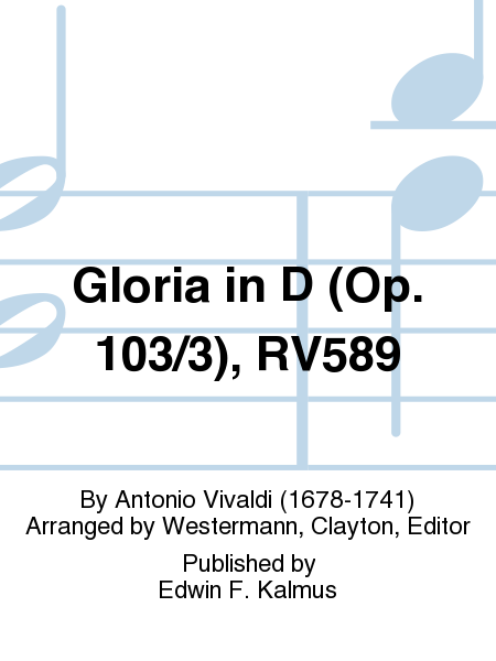 Gloria in D (Op. 103/3), RV589