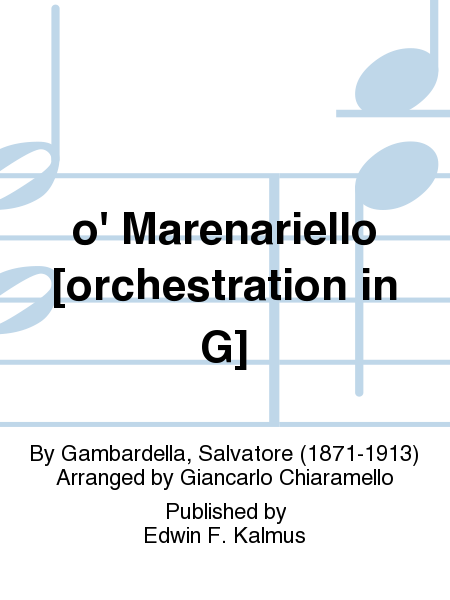 o' Marenariello [orchestration in G]