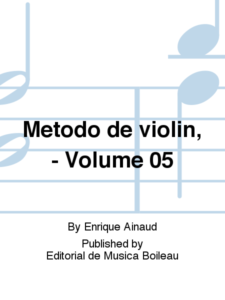 Metodo de violin, - Volume 05