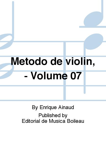 Metodo de violin, - Volume 07
