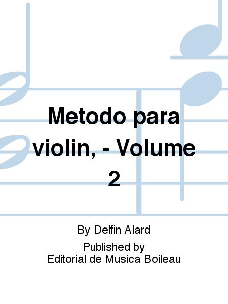 Metodo para violin, - Volume 2