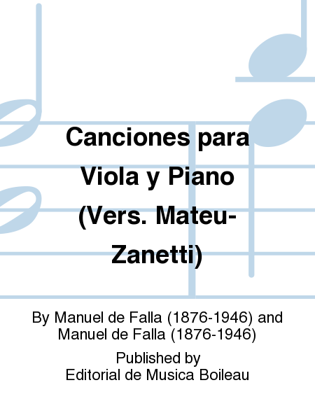 Canciones para Viola y Piano (Vers. Mateu-Zanetti)