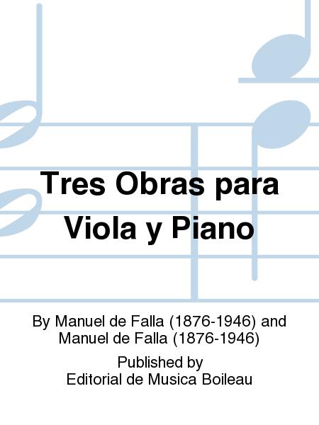 Tres Obras para Viola y Piano