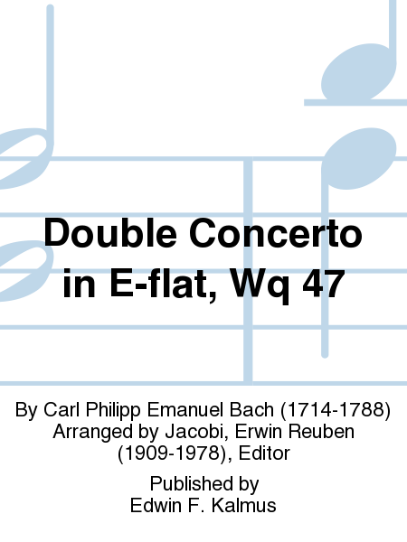 Double Concerto in E-flat, Wq 47