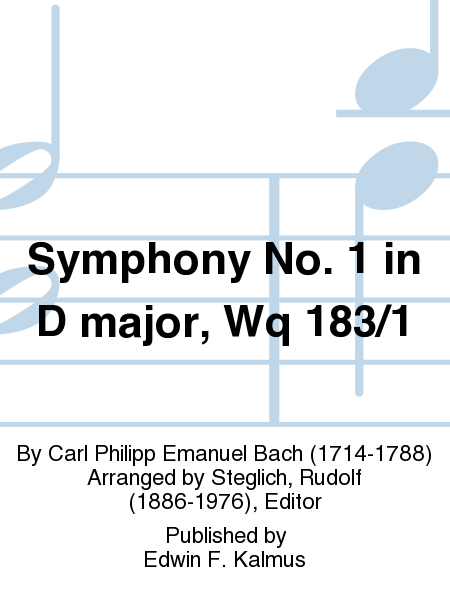 Symphony No. 1 in D major, Wq 183/1