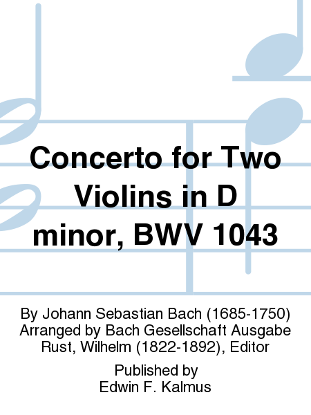 Concerto for Two Violins in D minor, BWV 1043