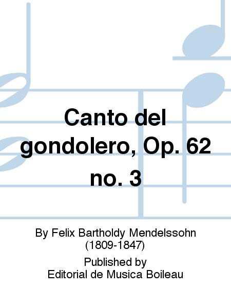 Canto del gondolero, Op. 62 no. 3