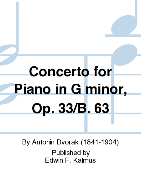 Concerto for Piano in G minor, Op. 33/B. 63