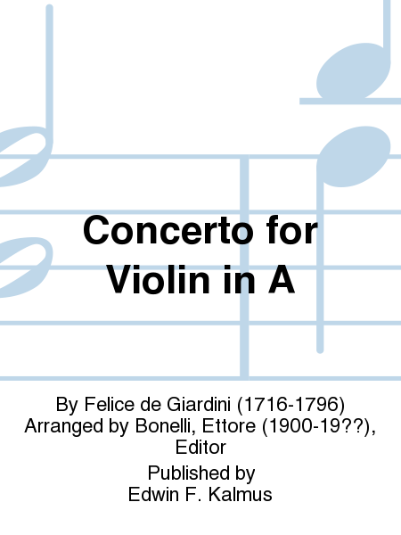 Concerto for Violin in A