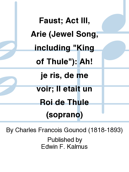 Faust; Act III, Arie (Jewel Song, including