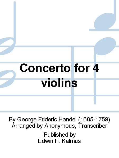 Concerto for 4 violins