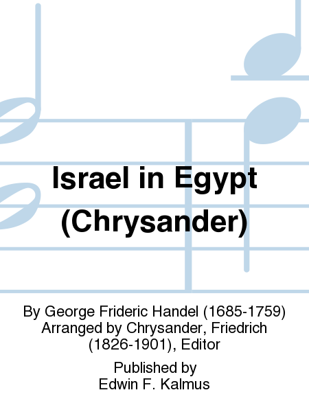Israel in Egypt (Chrysander)