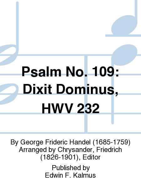 Psalm No. 109: Dixit Dominus, HWV 232