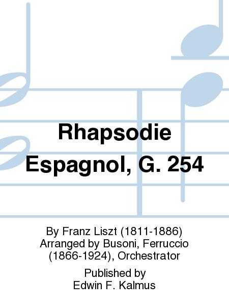 Rhapsodie Espagnol, G. 254