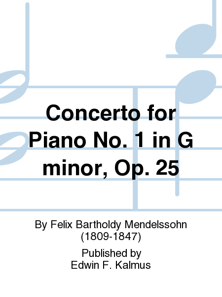 Concerto for Piano No. 1 in G minor, Op. 25