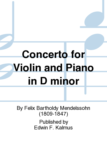 Concerto for Violin and Piano in D minor