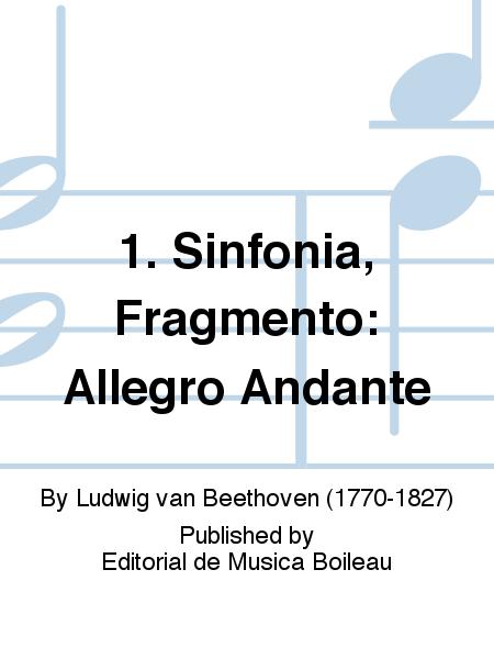 1. Sinfonia, Fragmento: Allegro Andante