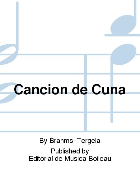 Cancion de cuna sheet music by brahms tergela sheet for Cancion de cuna de brahms