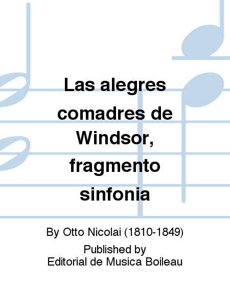Las alegres comadres de Windsor, fragmento sinfonia