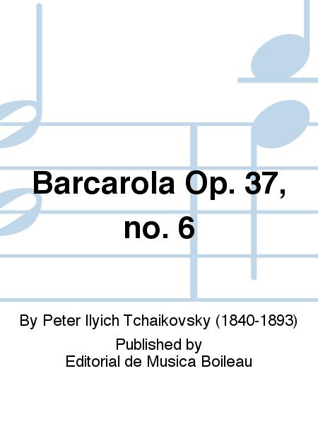 Barcarola Op. 37, no. 6