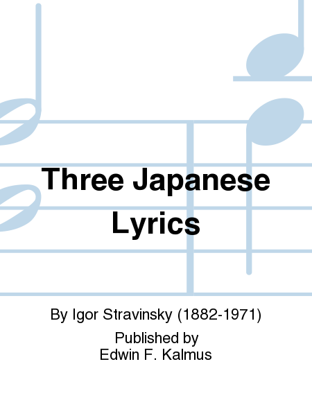 Three Japanese Lyrics