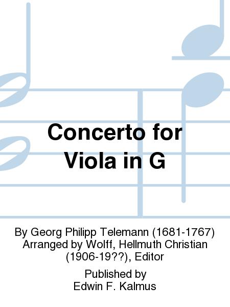 Concerto for Viola in G