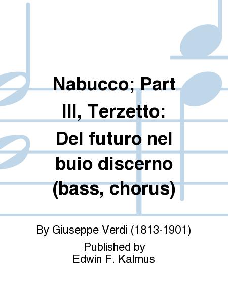 Nabucco; Part III, Terzetto: Del futuro nel buio discerno (bass, chorus)