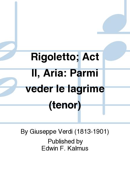 Rigoletto; Act II, Aria: Parmi veder le lagrime (tenor)