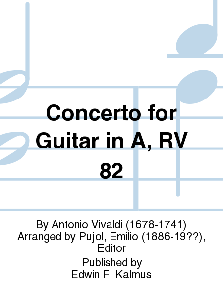 Concerto for Guitar in A, RV 82