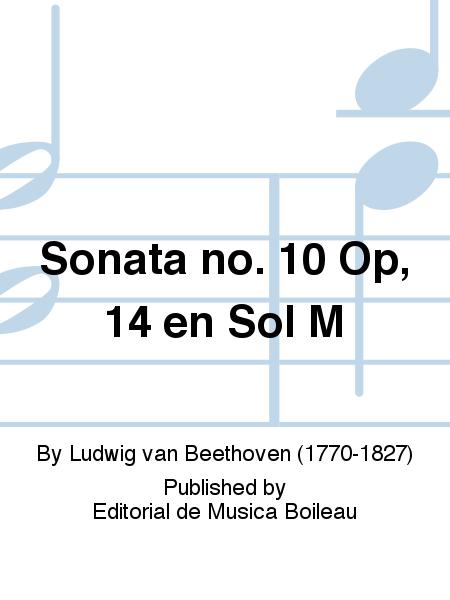Sonata no. 10 Op, 14 en Sol M