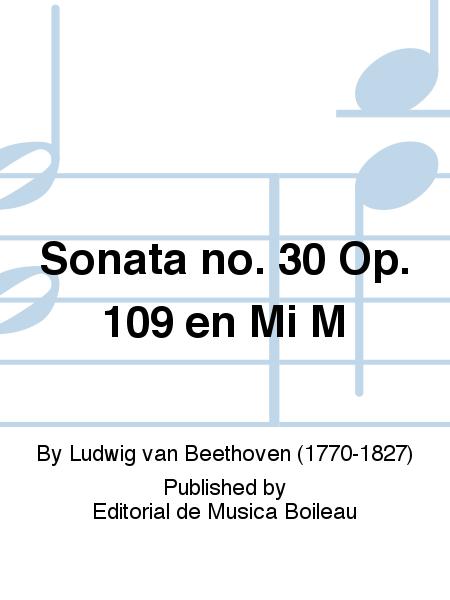 Sonata no. 30 Op. 109 en Mi M