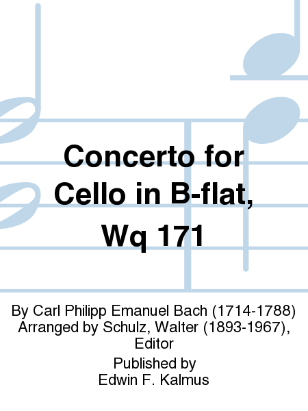 Concerto for Cello in B-flat, Wq 171
