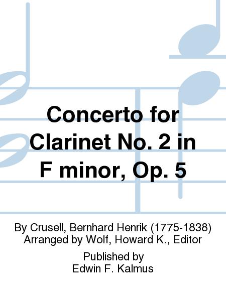 Concerto for Clarinet No. 2 in F minor, Op. 5