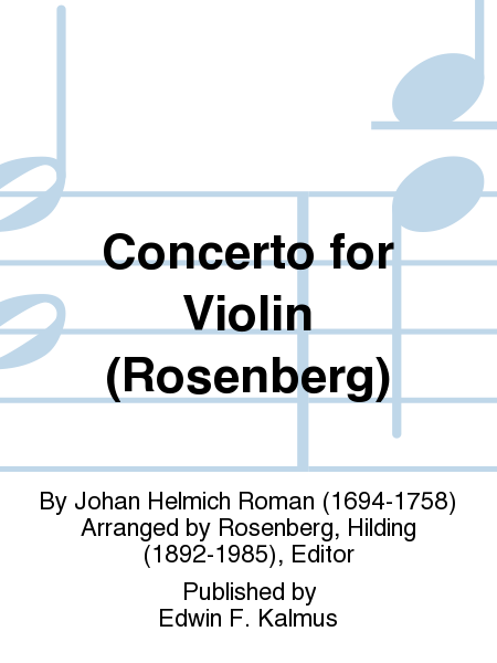 Concerto for Violin (Rosenberg)