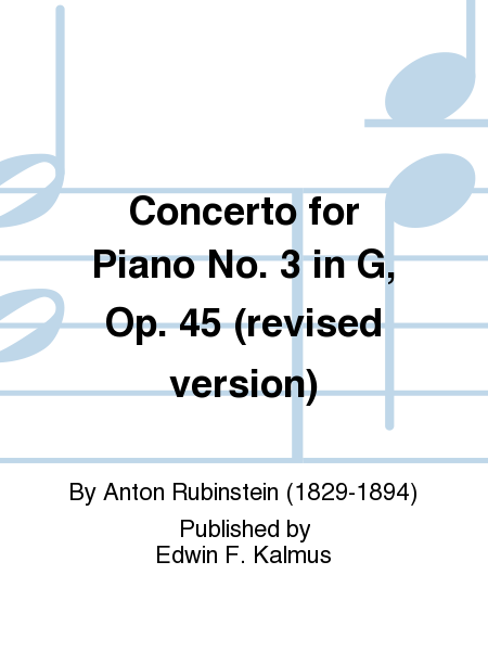 Concerto for Piano No. 3 in G, Op. 45 (revised version)