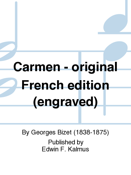 Carmen - original French edition (engraved)