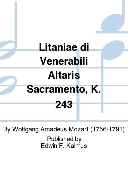 Litaniae di Venerabili Altaris Sacramento, K. 243