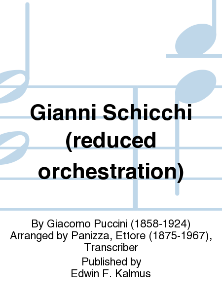 Gianni Schicchi (reduced orchestration)