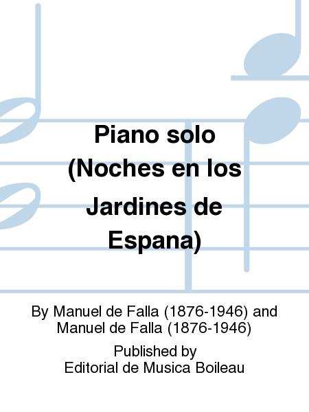 Piano solo (Noches en los Jardines de Espana)