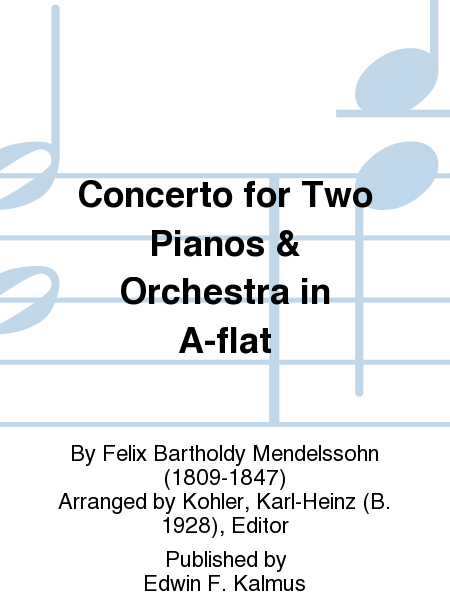 Concerto for Two Pianos & Orchestra in A-flat