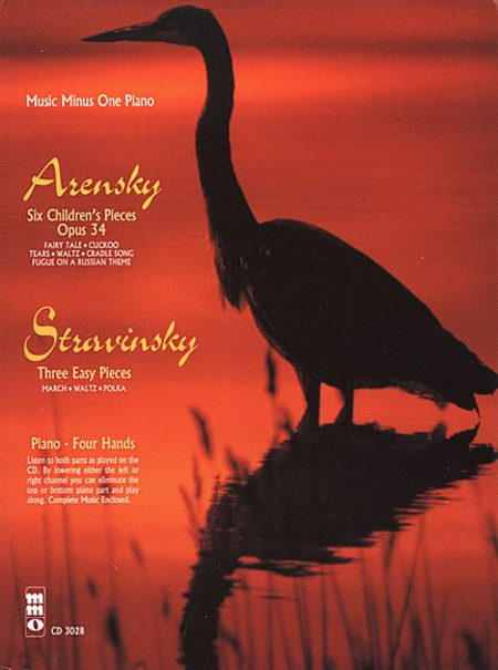 ARENSKY: 6 Pieces Enfantines, Op. 34; STRAVINSKY: 3 Easy Pieces (Dances) for piano duet (2nd-3rd year)