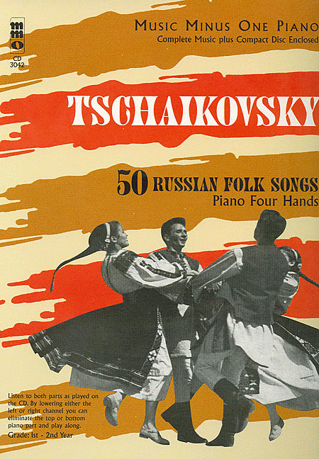 TCHAIKOVSKY: Fifty Russian Folk Songs for piano duet