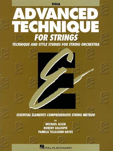 Essential Elements - Advanced Technique for Strings (Viola) - Book only