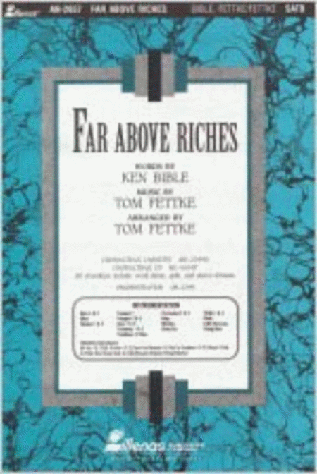 Far Above Riches (Anthem)