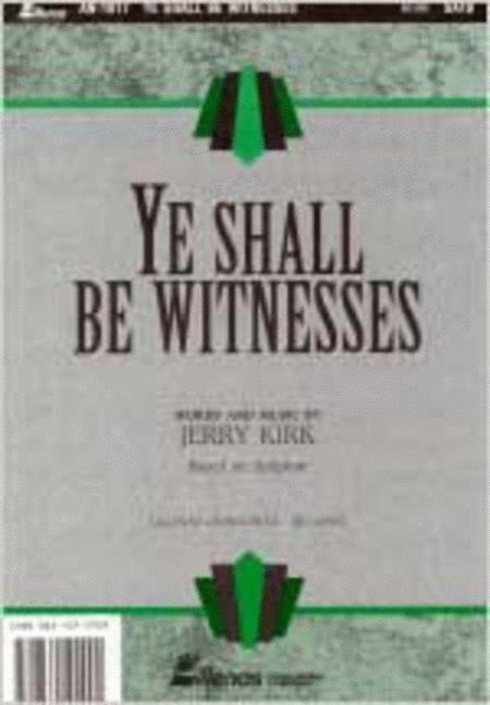 Ye Shall Be Witnesses (Brass Accompaniment)