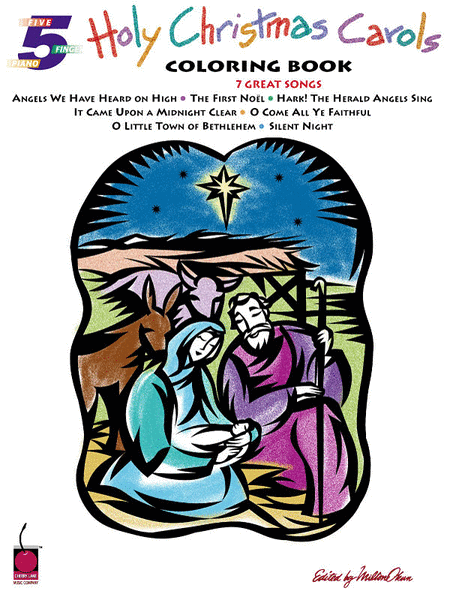 Holy Christmas Carols Coloring Book - Easy Piano Duets