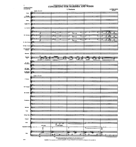 Concertino for Marimba and Winds