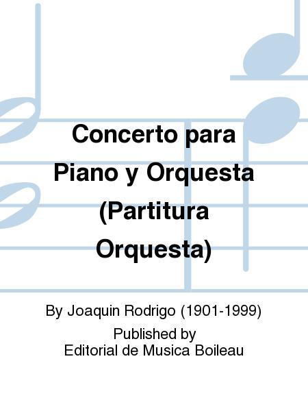 Concerto para Piano y Orquesta (Partitura Orquesta)