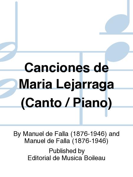 Canciones de Maria Lejarraga (Canto / Piano)