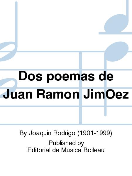 Dos poemas de Juan Ramon JimOez